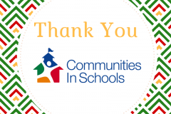 Thank you, Communities in Schools!